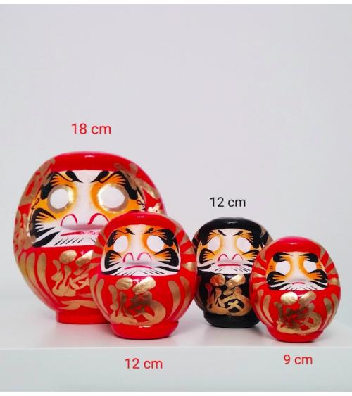 Amuleto daruma rojo 12 cm.