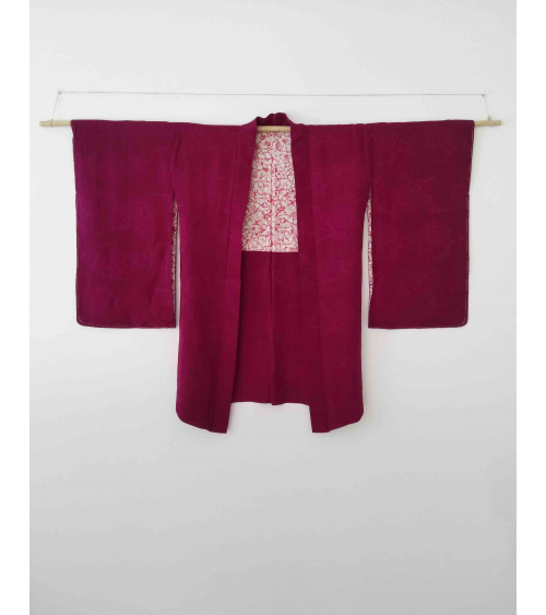 Vintage burgundy silk haori.