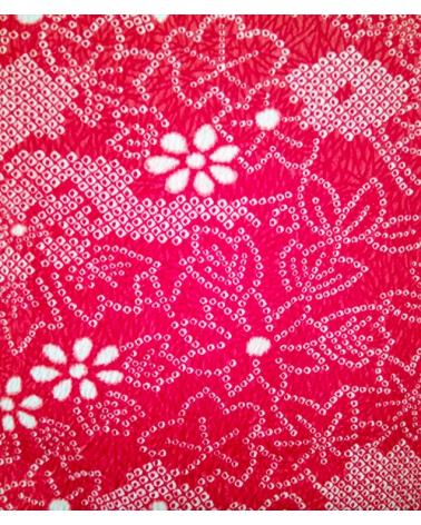 Haori vintage shibori rojo.