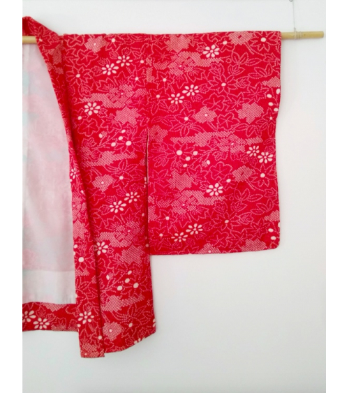 Vintage shibori red haori.