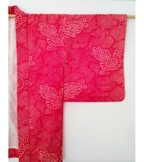 Vintage shibori red haori 'Kiku'