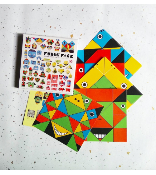 "Kit origami ""Funny Face"" COCHAE."