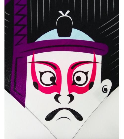 Furoshiki Kabuki (48 cm x 48 cm).