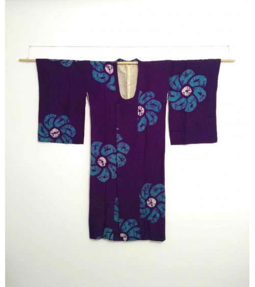 Vintage violet silk michiyuki
