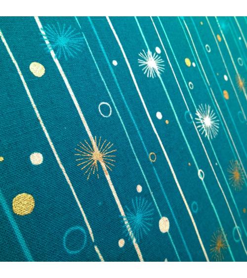 """Loneta Japonesa """"Tanpopo"""" en azul."""