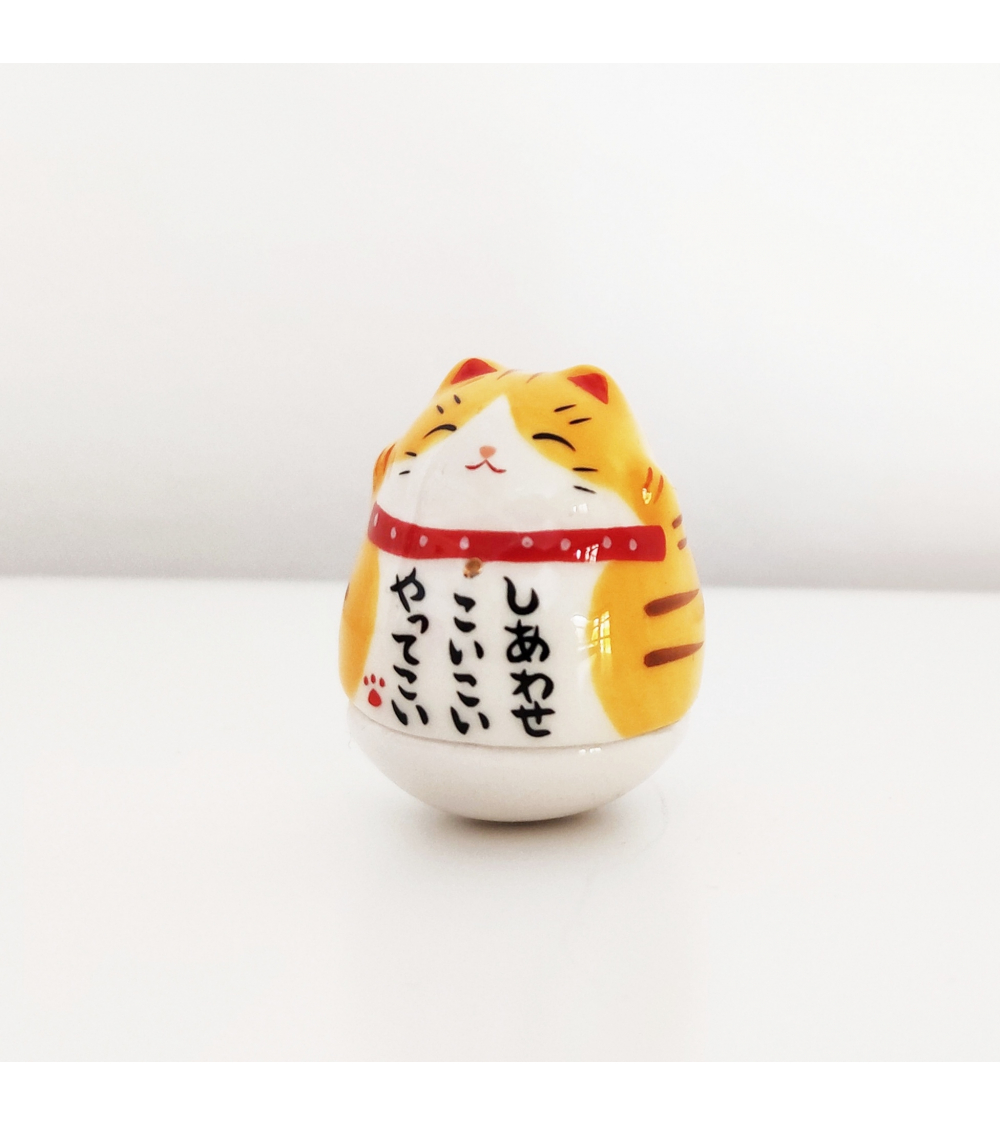 Maneki neko charm (yellow)