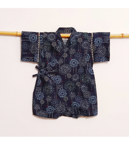 "Jinbei una pieza ""hanabi"" azul oscuro."