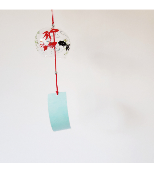 Furin (Japanese windchime) 'Koi', made of glass.