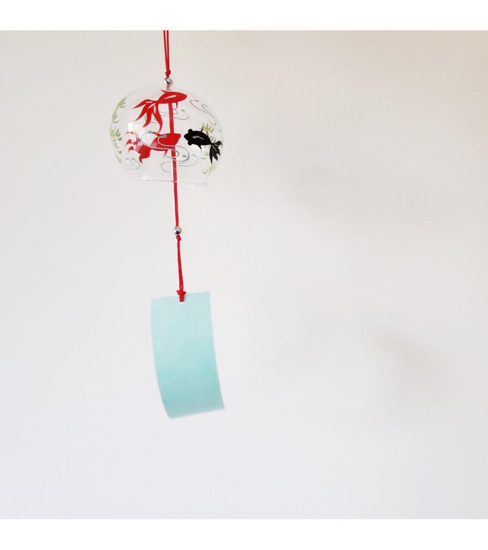 """Furin (campanita japonesa) de vidrio """"Koi"""""""