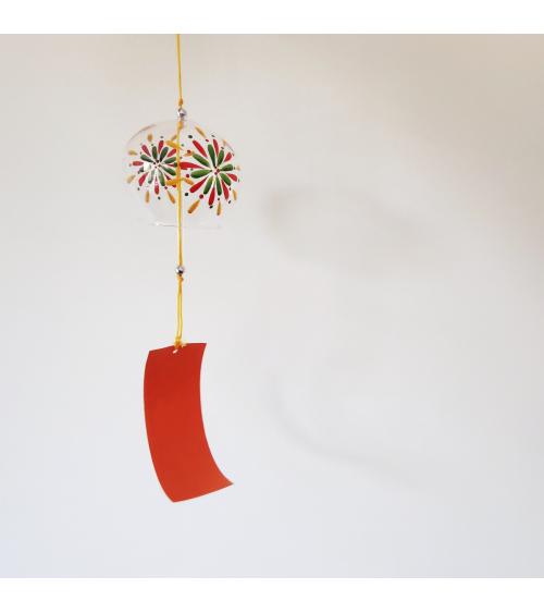 Furin (Japanese wind chime) 'Hanabi', made of glass.