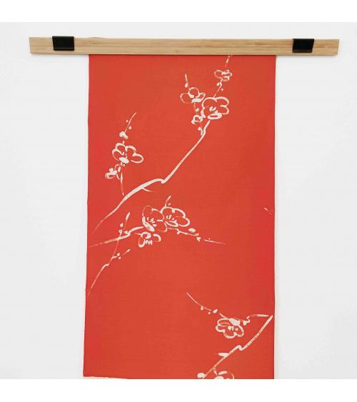 "Vintage silk wall panel ""Ume"""