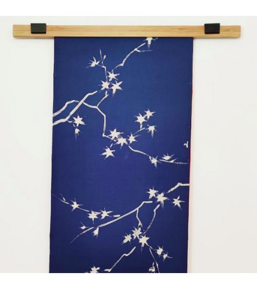 Vintage silk wall panel 'Kaede'