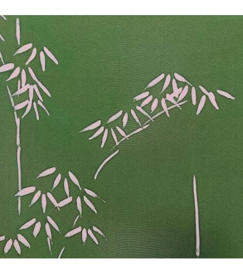 "Panel mural de seda japonesa vintage ""Bambú"""