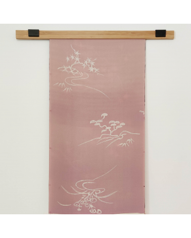 "Panel mural de seda japonesa vintage ""Matsu"""