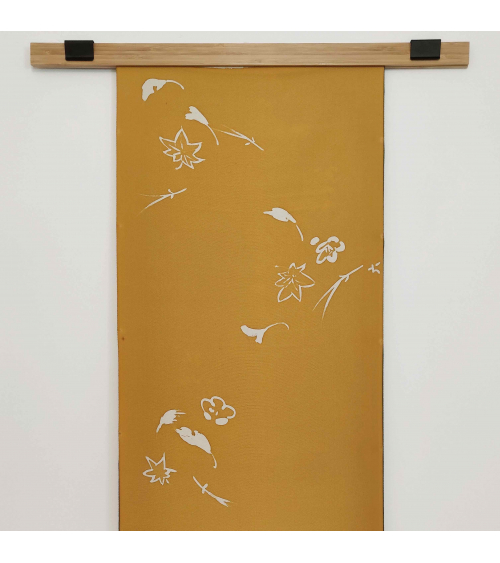 "Panel mural de seda japonesa vintage ""Otoño"""