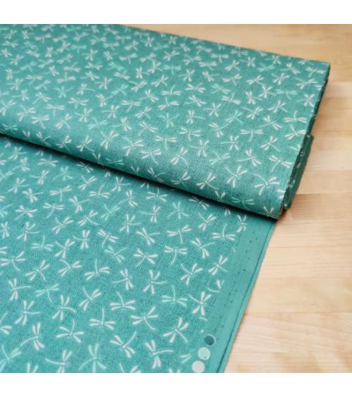 "Tejido japonés de algodón ""Tonbo"" en verde mint"