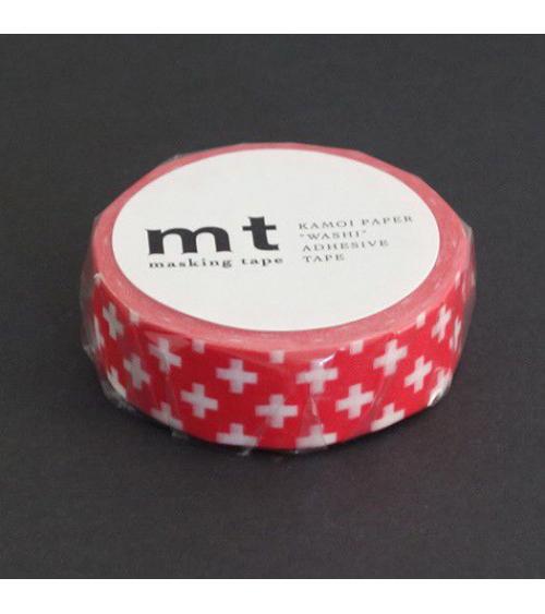 Washi tape (masking tape) cross carmine