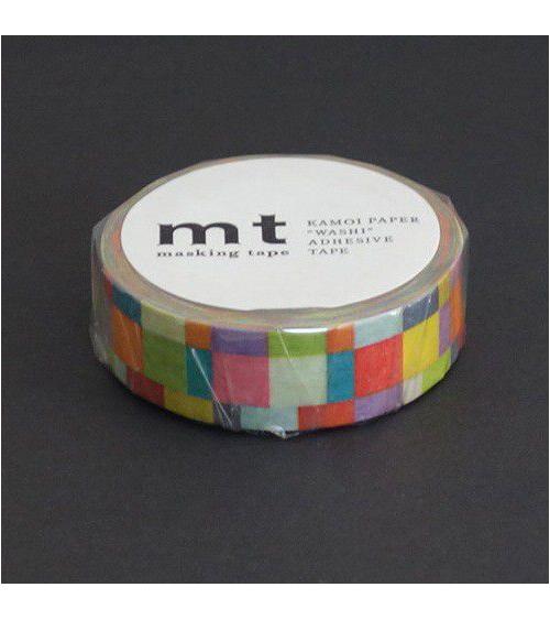 Washi tape (masking tape) mosaic bright