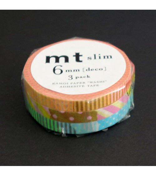Washi tape (masking tape) slim deco E