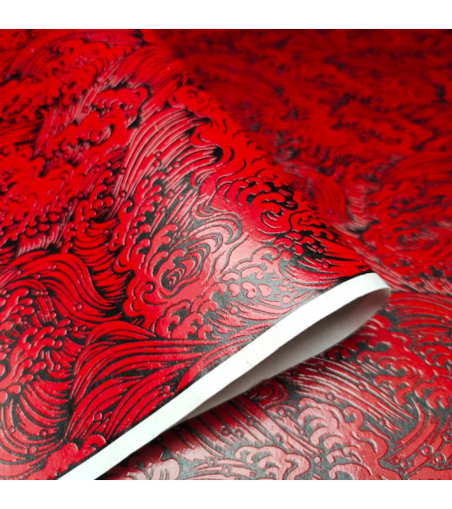 Lacquered chiyogami paper 'Nami' (waves)