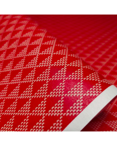 Papel chiyogami laca Uroko rojo y blanco
