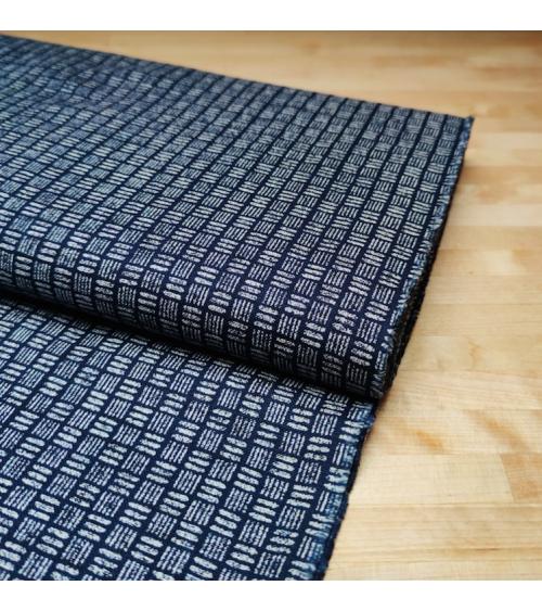 Japanese cotton fabric Rustic Indigo. 'Sangokuzushi'