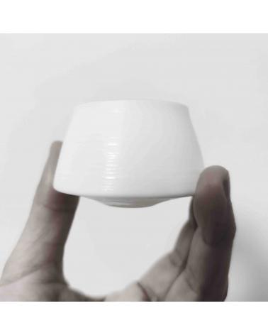 "Set de 5 vasos de sake en cerámica japonesa ""eggshell"""