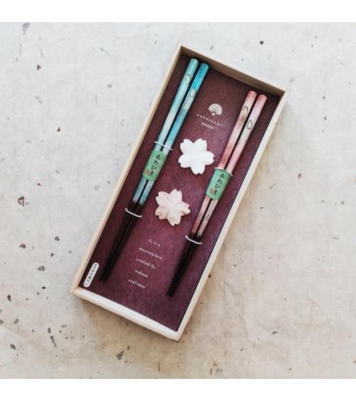 Mother-of-pearl Sakura chopsticks gift set