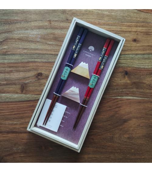 Mother-of-pearl 'Fuji' chopsticks gift set