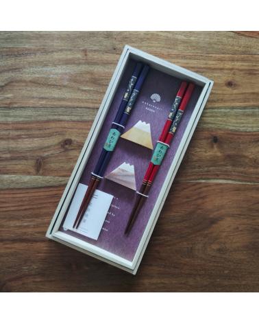 Set de regalo Palillos Fuji nácar