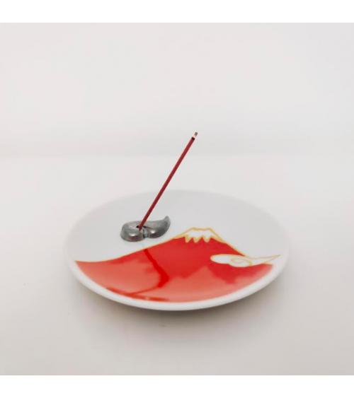 Fujisan incense set in red