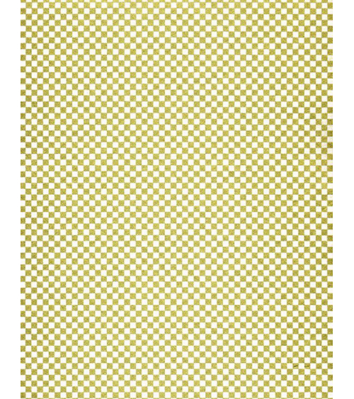 Papel Chiyogami de damero en dorado y blanco