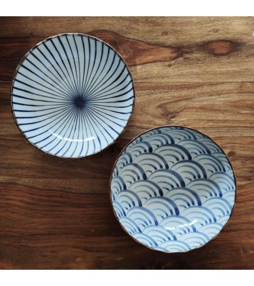 Hasami ceramic ramen set for two