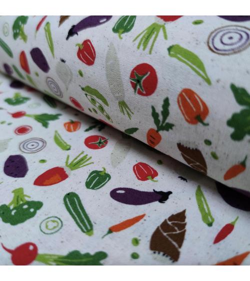 Off-white Japanese fabric 'Veggies'