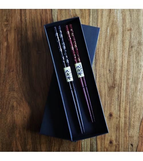 'Sakura in black and red' chopsticks gift set