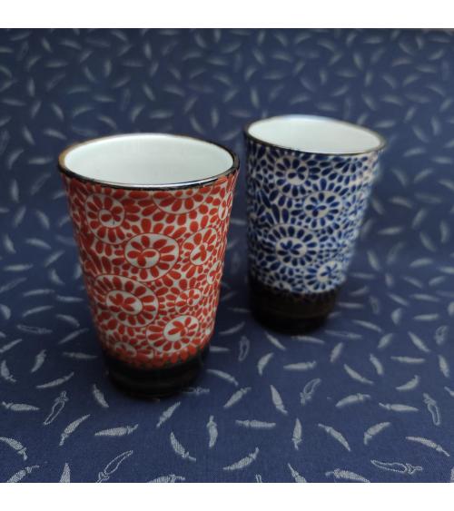 'Karakusa' set of ceramic glasses