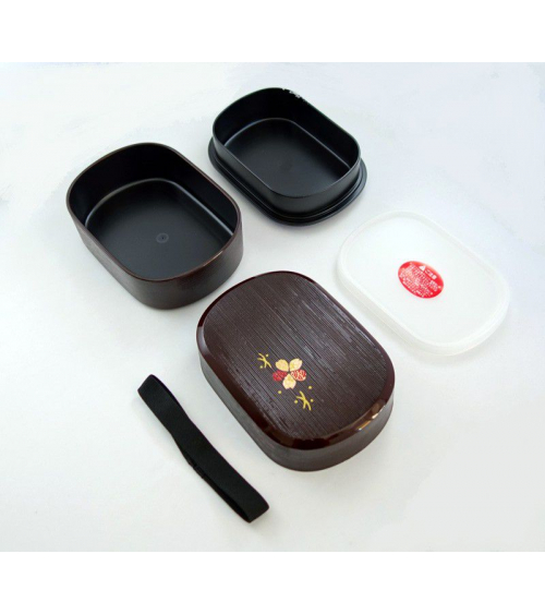 Bento box (Lunch box) madera con flor cerezo (kino hako sakura)
