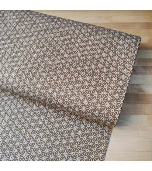Japanese fabric. Asanoha in ochre.