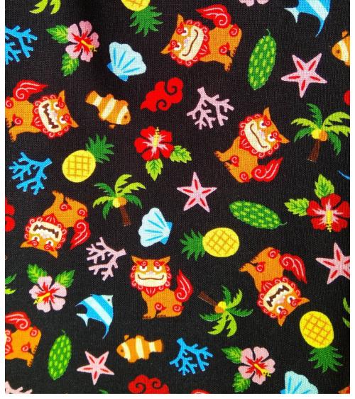 Japanese fabric. 'Okinawa' black.