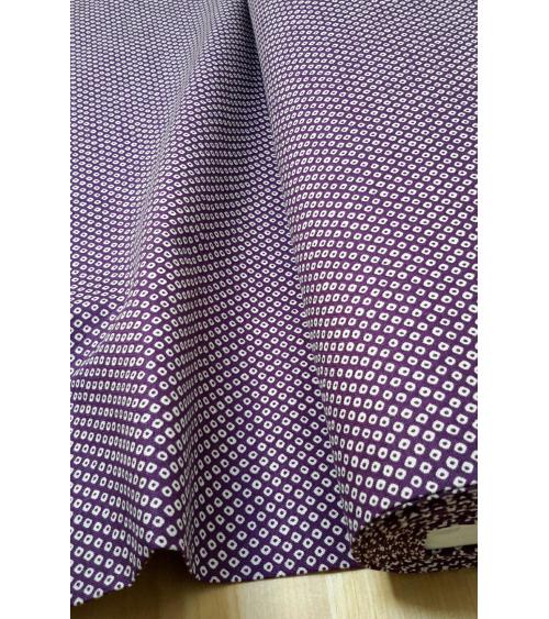 Japanese cotton fabric. Aubergine color shibori.