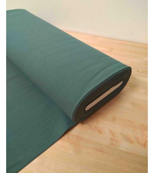 Cotton-linen Japanese canvas in celadon green
