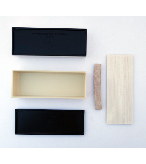 Bento box (Lunch box) efecto madera blanca