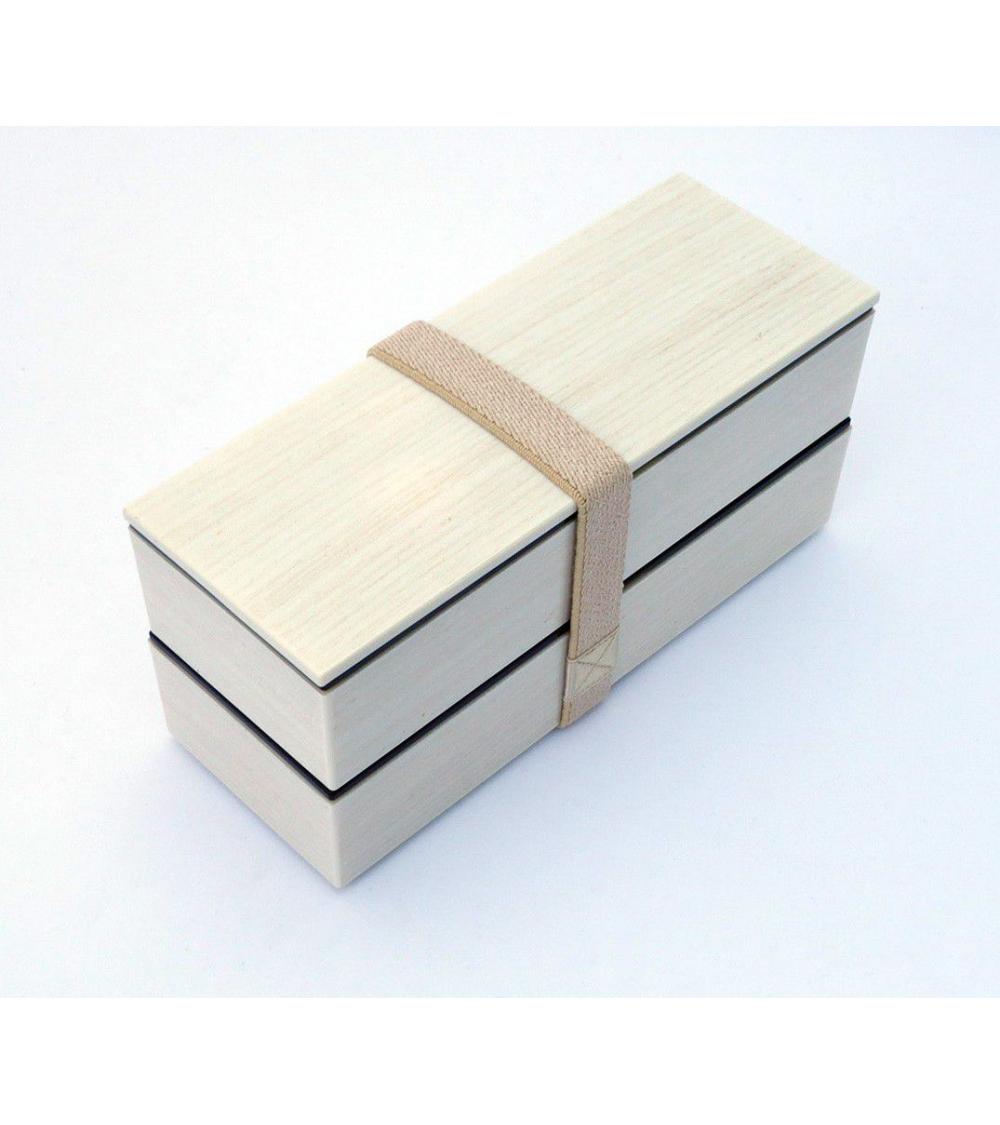 Bento box (Lunch box) efecto madera blanca