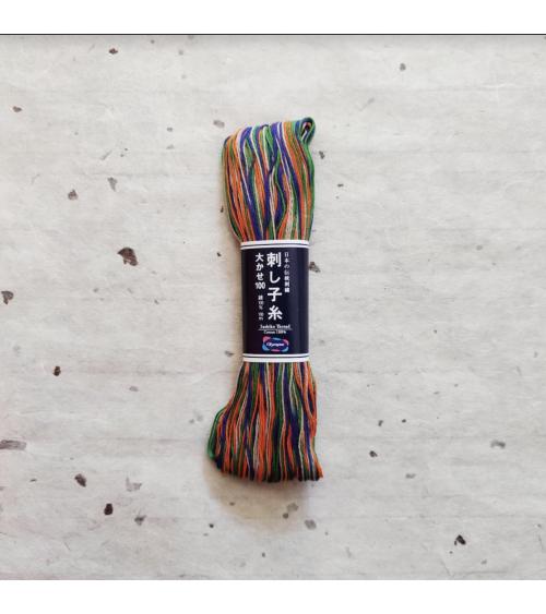 Hilo de sashiko (bordado japonés) 100m. Multicolor.