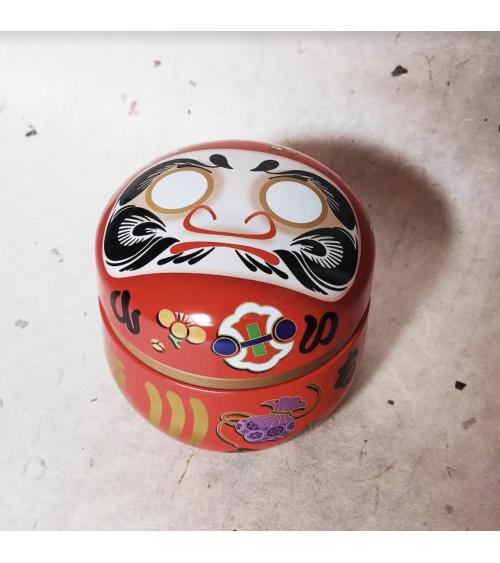 Cajita de lata para té en forma de Daruma