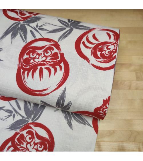 "Japanese dobby fabric ""Darumas"" in ivory"