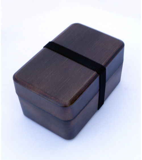Bento box (Lunch box) efecto madera bronce