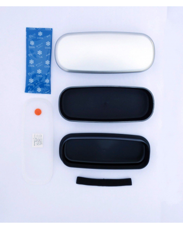 Bento box (Lunch box) silver alargada