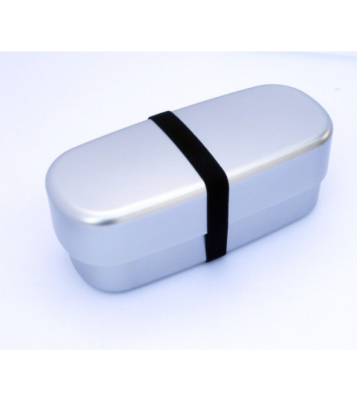 Bento box (Lunch box) silver alargada