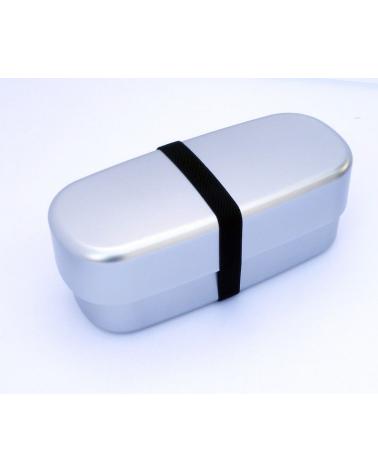 Bento box silver alargada